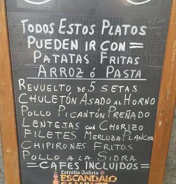 Comer por 5 euros, o menos, en Vigo y Pontevedra