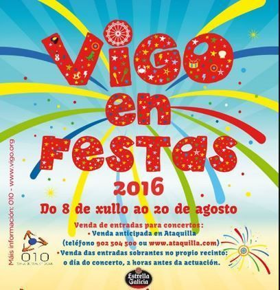 Conciertos de verano con niños: Vigo en Fiestas 2016