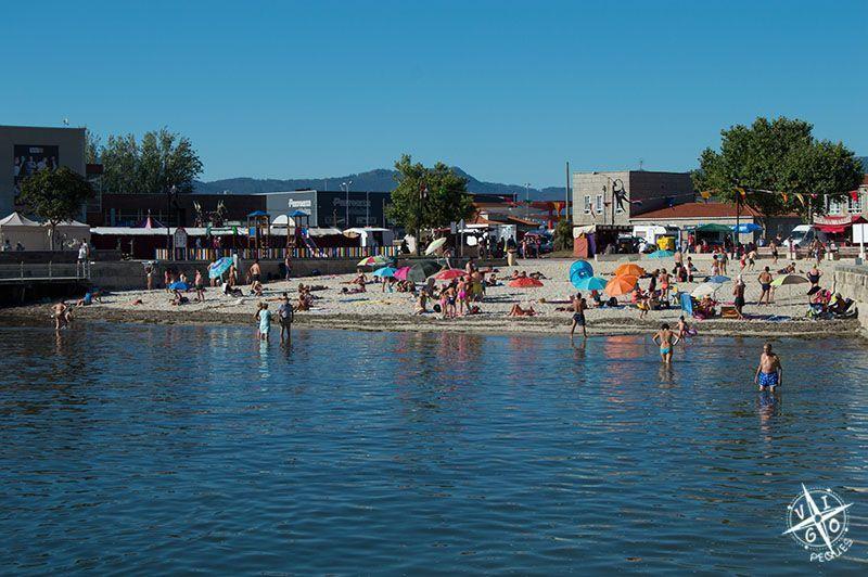 Playa de O Adro en Bouzas recomendada para ir con niños