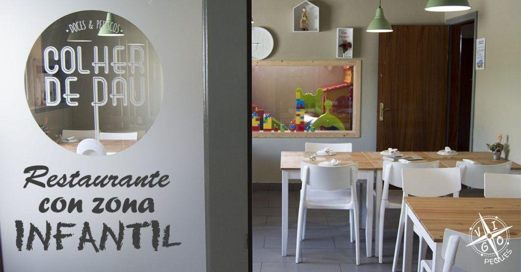 Colher de Pau, salon con parque infantil