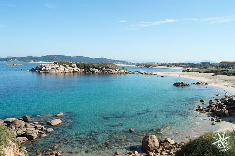 Playa de La Lanzada con la Isla de Outeiriño