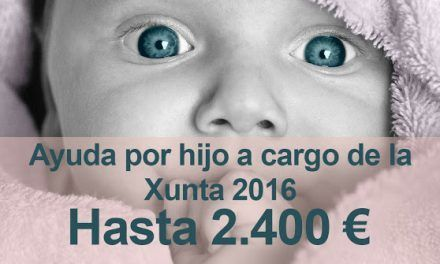 Ayuda por hijo a cargo de la Xunta 2016