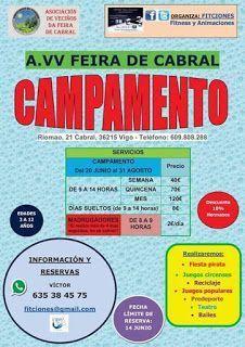 Campamentos de Verano en Vigo - AVV FEIRA DE CABRAL