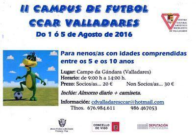 Campus de fútbol en Vigo - CCAR VALLADARES