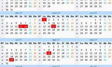 Calendario Laboral 2017 en Galicia