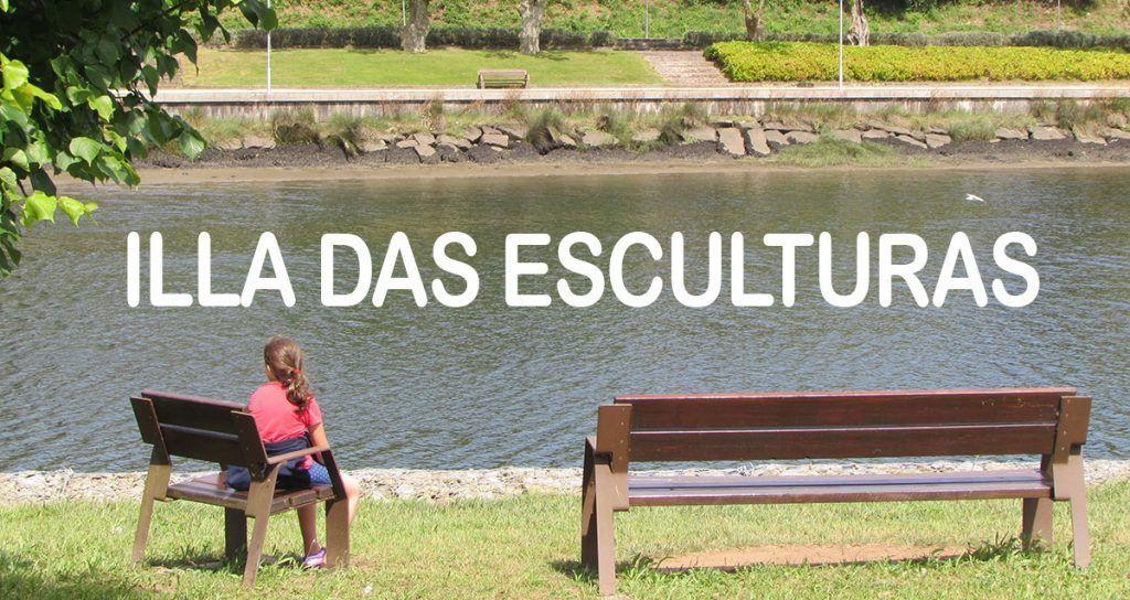 Illa das Esculturas en Pontevedra