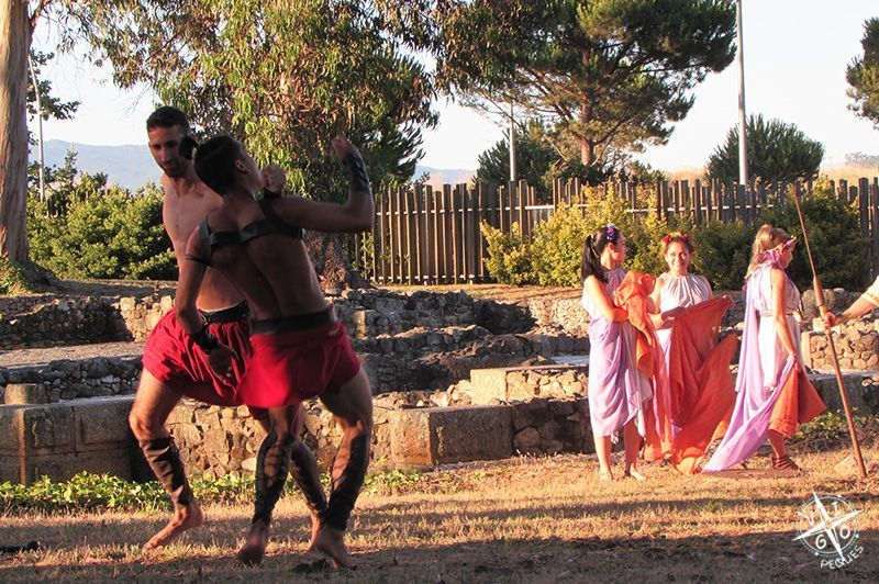 Villa Romana Toralla: Visita teatralizada, representación de una lucha de gladiadores