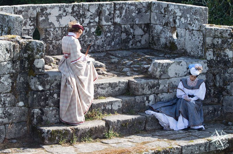 Actores en el Castillo de Soutomaior