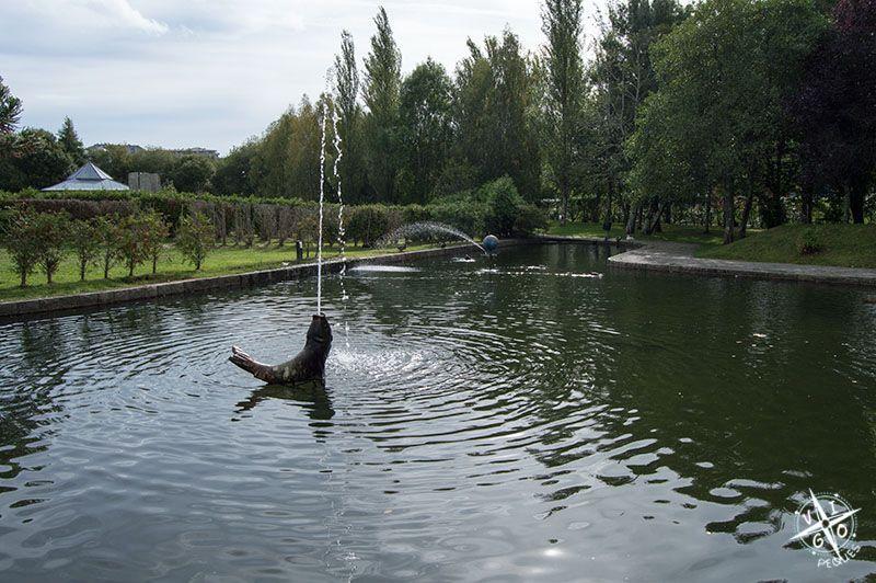 Lago en la zona de los jardines