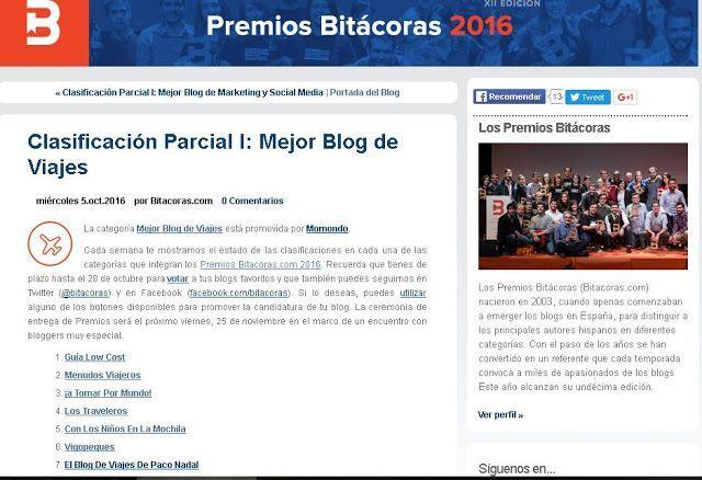 Premios Bitácoras 2016: Vota a Vigopeques!