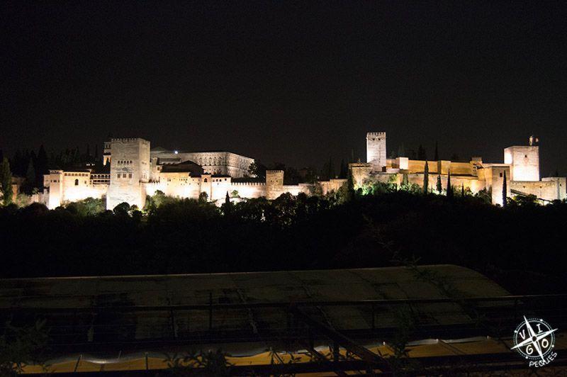 Cena del blogtrip puleva en Albaicín con espectaculares a la Alhambra