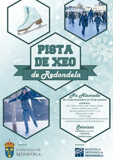 La pista de hielo más barata de Galicia llega a Redondela