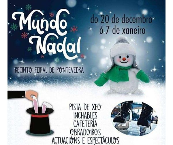 Pontexogos, Mundonadal y Pontenadal inauguran la Navidad en Pontevedra
