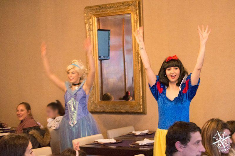 Parte de la actuación en el Restaurante Praceta