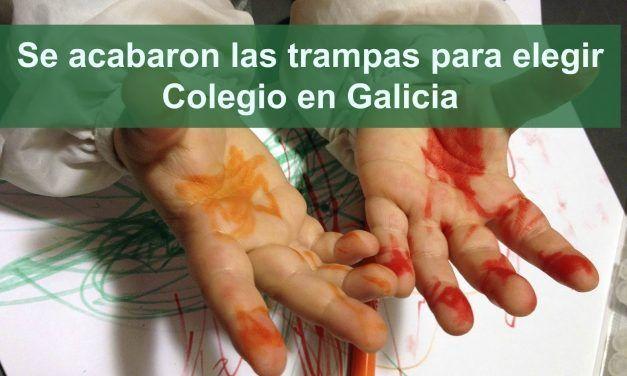 Se acabaron las trampas para elegir colegio en Galicia