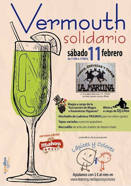 Lapices y colores: Vermouth solidario