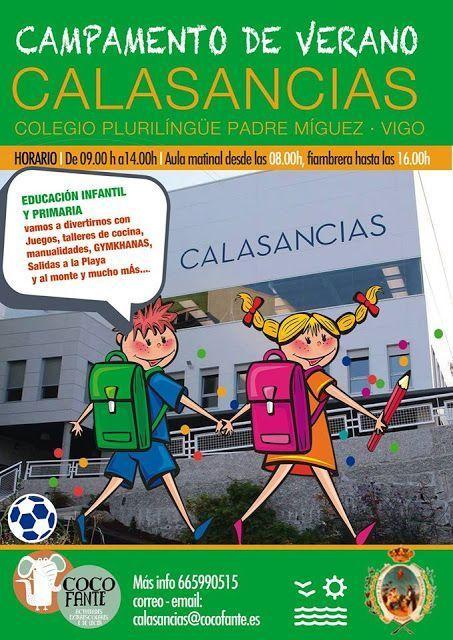 Campamento de Verano en el Colegio Calasancias, Vigo. Infantil y primaria