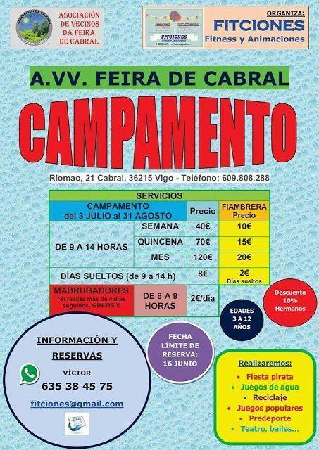 Campamento de Verano en la Asociación de Vecinos Feira de Cabral.