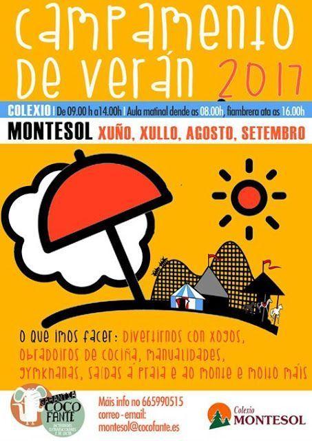 Campamento de Verano en el Colegio Montesol, Vigo. campamento de Verán 2017