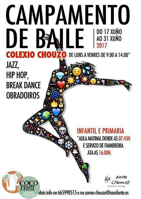 Campamento de Verano en el Colegio Chouzo, Vigo. Campamento de baile.