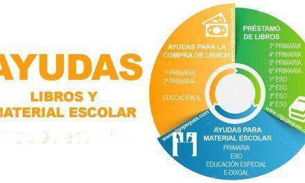 Ayuda libros y material escolar en Galicia