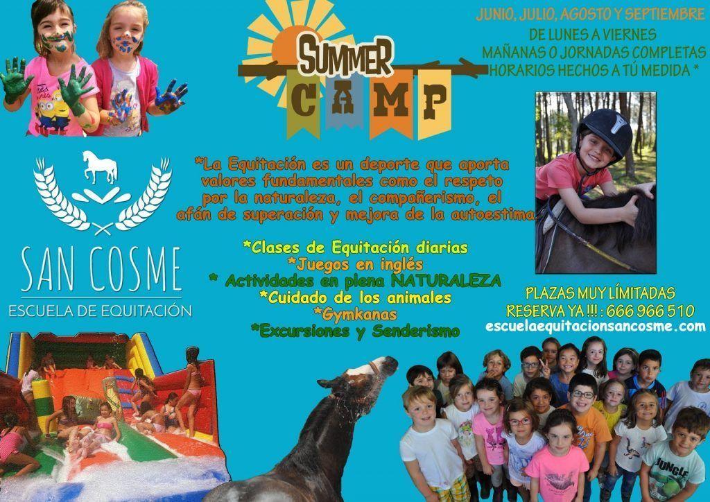 Campamento de Verano en el Club Hipico Alazan. Escuela de Equitación