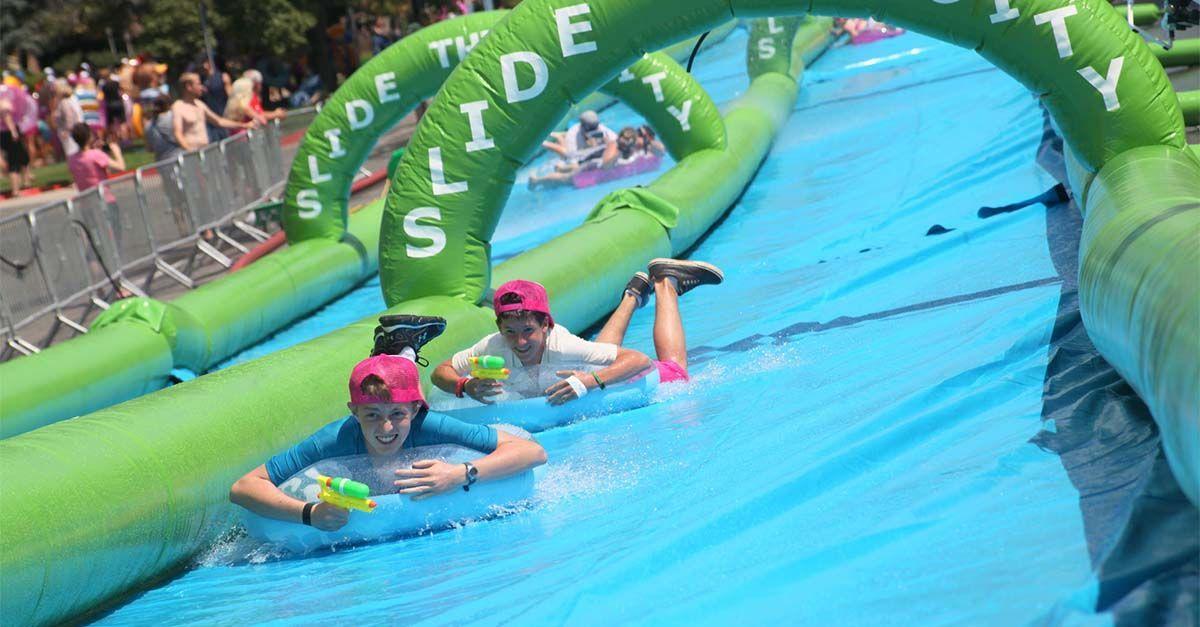 Fiesta acuática en las calles de Ourense este verano