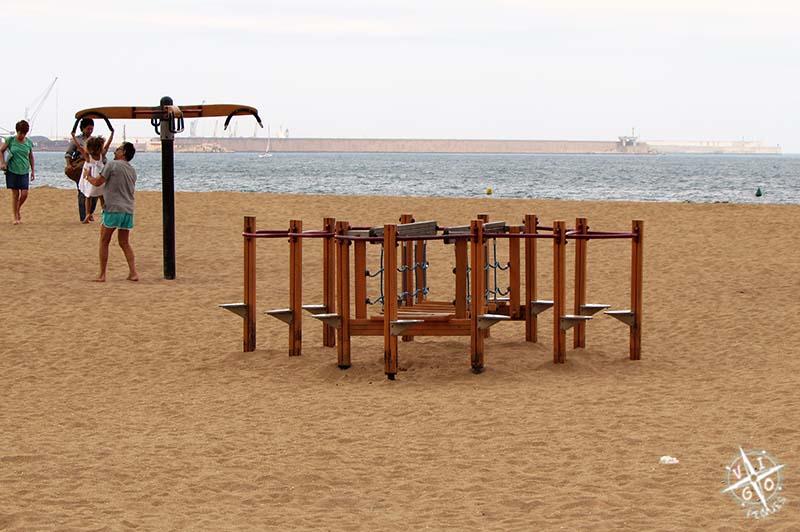 La playa del Poniente en Gijon