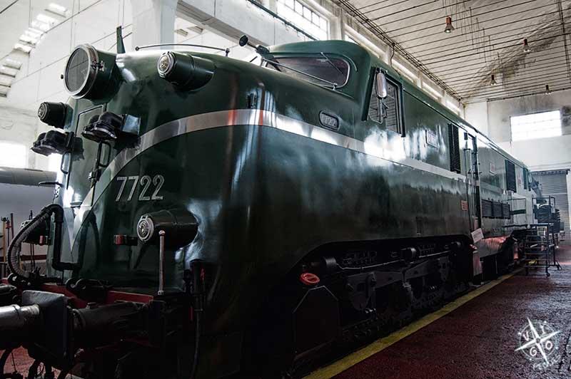 """Locomotora 7722, apodada """"Inglesa"""" del museo ferrocarril de Galicia"""