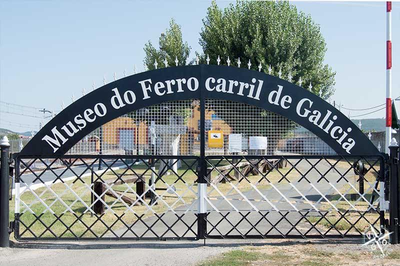 Entrada al Museo del ferrocarril de Galicia