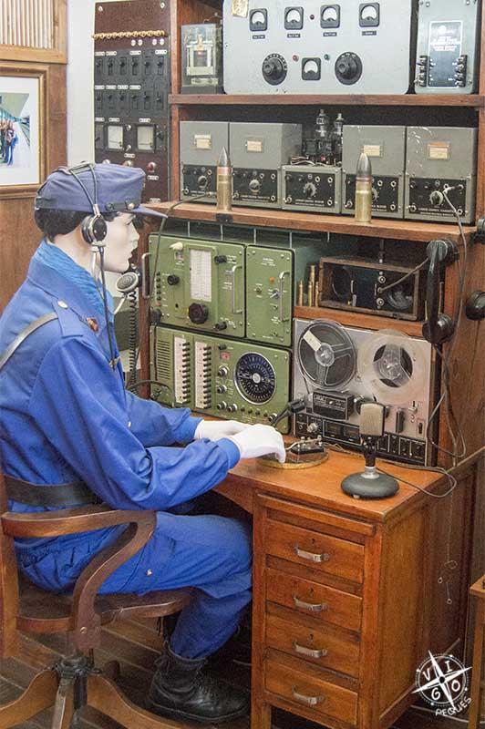 Estación de radio militar del museo del ferrocarril de galicia