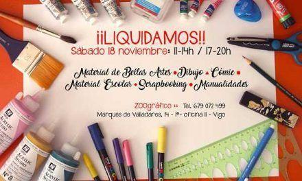 Liquidación material escolar y de manualidades