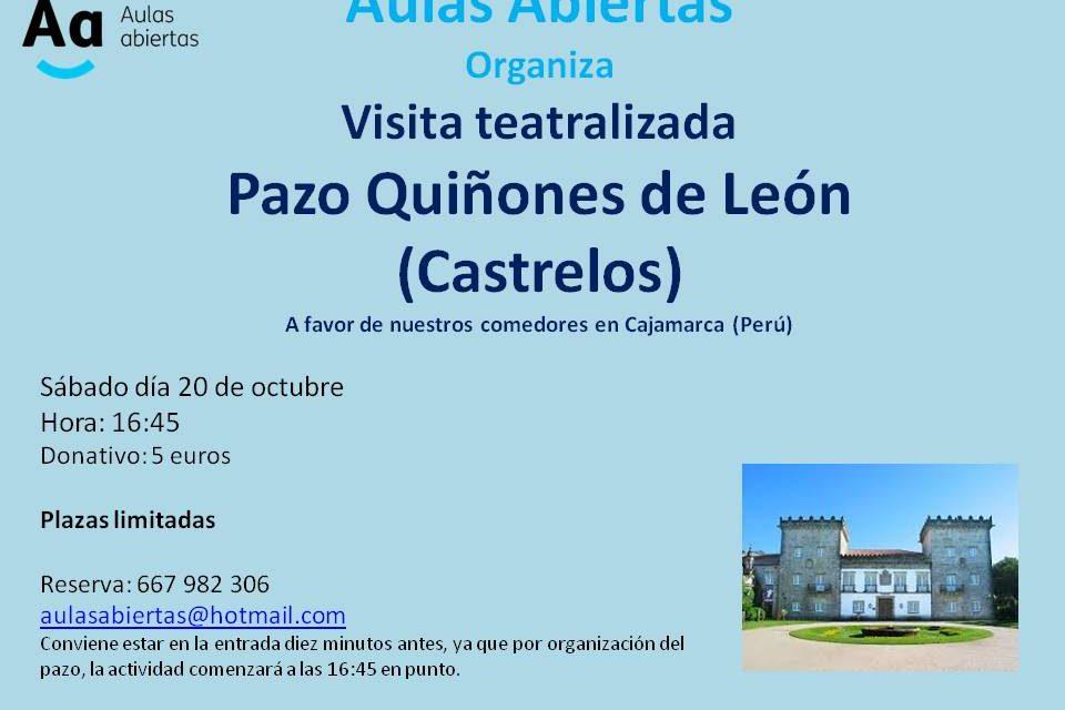 Visita teatralizada en el Pazo Quiñones de León