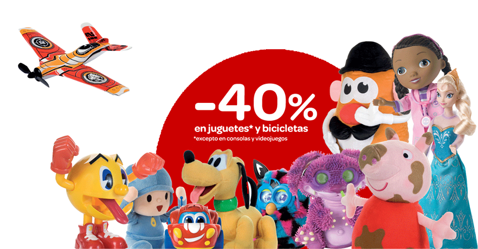 Carrefour: descuento del 40% en juguetes y bicicletas