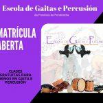 Cursos gratis de Música, gaita y percusión
