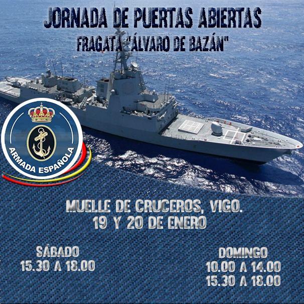 Visita guiada por la Fragata Álvaro de Bazán