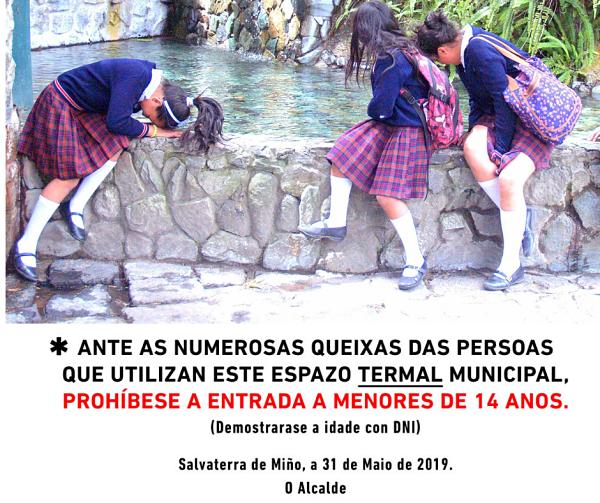 Salvaterra de Miño prohíbe la entrada de niños en las termas
