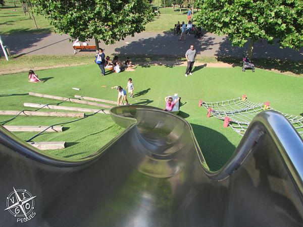 Super tobogan del parque de Eiris