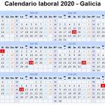 磊 Calendario Laboral 2020 en Galicia
