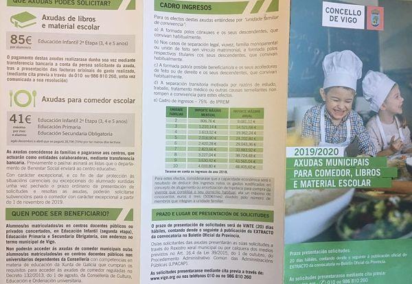 Ayudas comedor y material escolar del Concello de Vigo 2019- 2020 ...