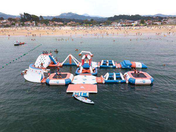 Este año volverá el Parque Acuático hinchable a Playa América