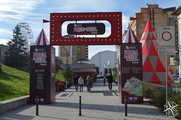 Praça de Natal en Gaia. Atracciones gratuitas para toda la familia