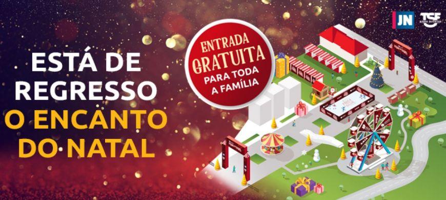 Cartel anunciador de la Praça de Natal de Gaia