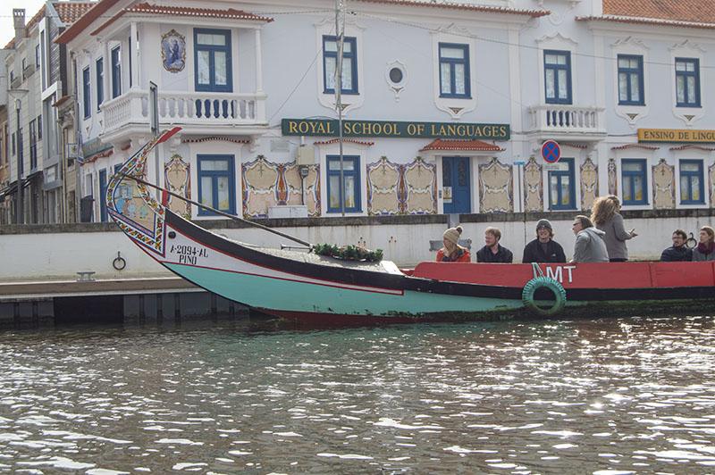 Molicerio recorriendo los canales de Aveiro