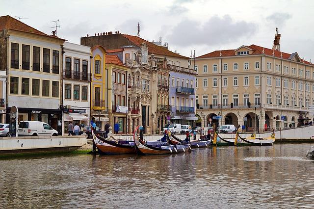 Vista de los museos en Aveiro