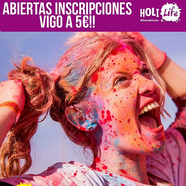 Vuelve la Holi Life Vigo: fiesta de colores y playa 2020