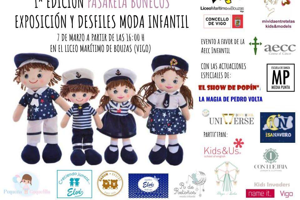 Desfile infantil benéfico con actuación de Pedro Volta y Popín
