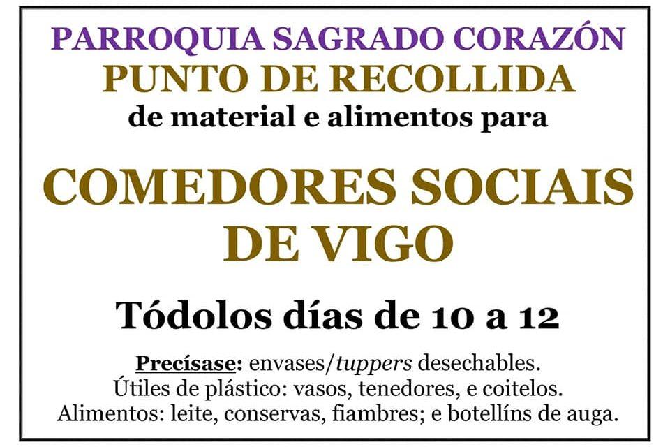Se solicita material infantil y tuppers en Vigo