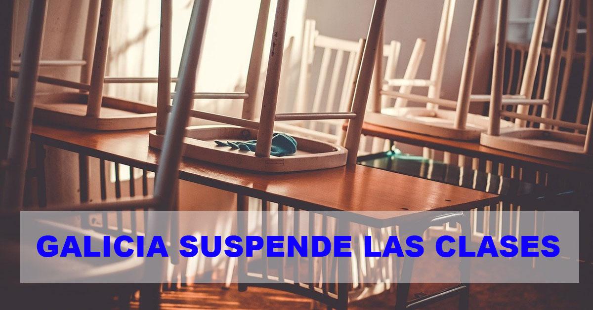 Galicia suspende las clases desde el lunes