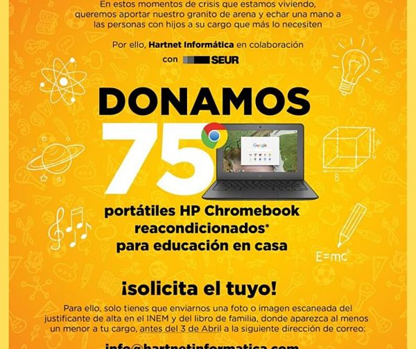 Empresa de A Coruña dona ordenadores a familias desempleadas con niños